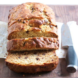 Chocolate Chip Banana Loaf with Coconut Oil.