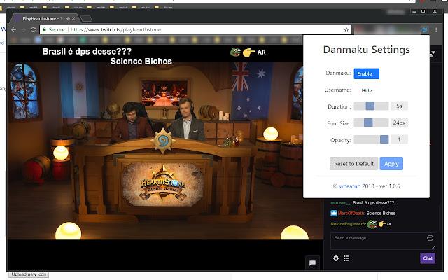Twitch Chat Danmaku