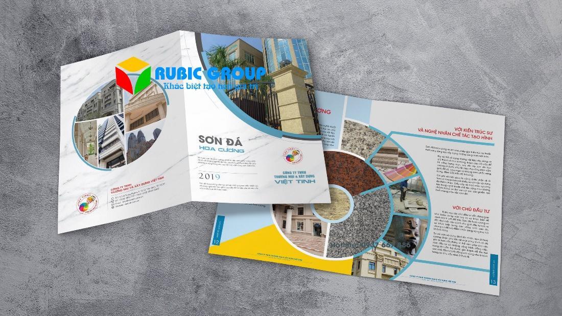 Mẫu catalogue thể hiện các sản phẩm của doanh nghiệp
