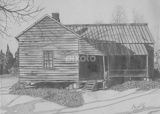 Easy Old House Drawing All Drawing Old House