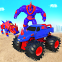 Rhino Robot Monster Truck Transform Robot Games icon