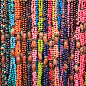 Colorful Tagua Necklaces by Robert Hamm - Artistic Objects Jewelry ( abstract, otavalo, craft, ecuador, colorful, tagua, jewelry, urban, bead, market, color, background, outdoor, necklace,  )