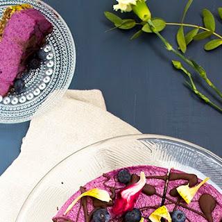 Raw Blueberry Pistachio Cake