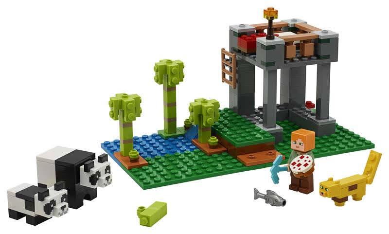 Contenido de Lego® 21158 El Criadero de Pandas