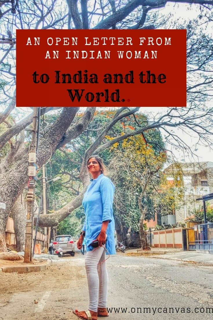 priyanka gupta standing on a street in bangalore photo being used for an open letter from an indian woman to india and the world