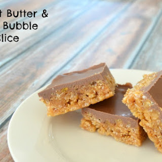 Peanut Butter and Rice Bubble Slice