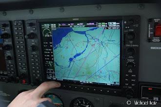 Photo: Garmin G1000 viser vei.
