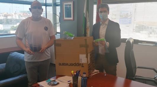 Jusapol entrega máscaras para los funcionarios de Justicia