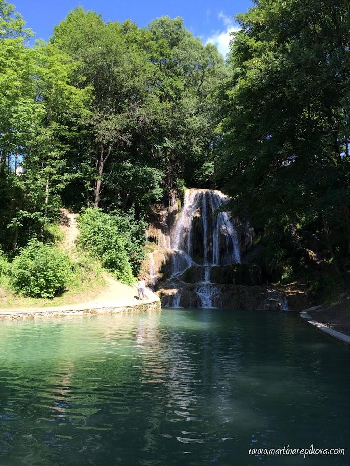 Waterfall in spa town Lucky, Liptov, Slovakia