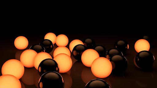 Black Orange HD Live Wallpaper