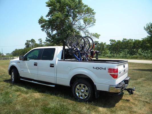 pickup bike rack truck bicycle rack