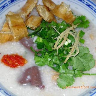Pork Blood Porridge Recipe (Cháo Huyết)