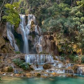 Kuang Si Waterfall by Hale Yeşiloğlu - Landscapes Waterscapes ( waterscape, waterfall, laos, luang prabang, travel,  )