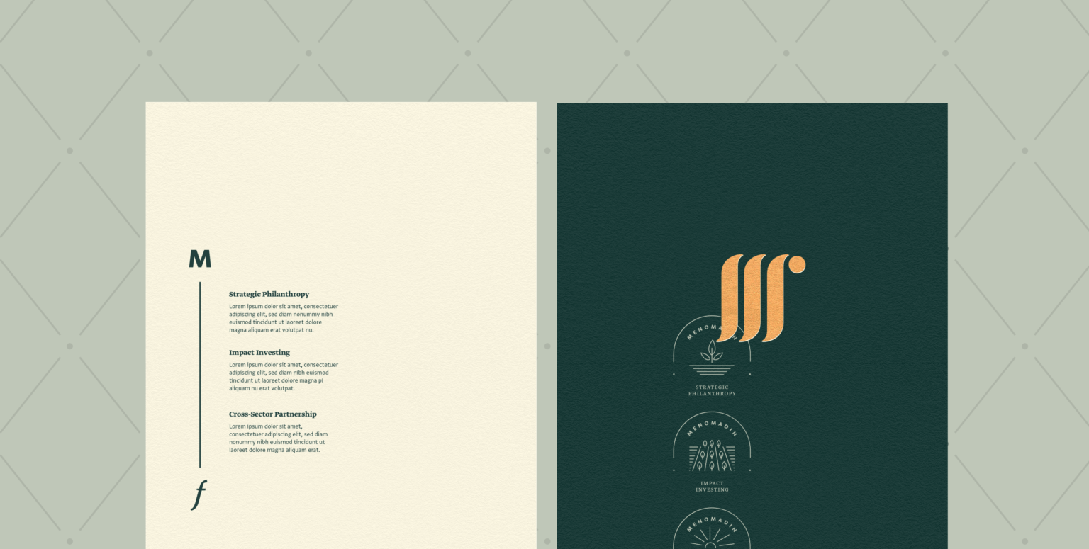 Branding and Visual Identity for the Menomadin Foundation 6