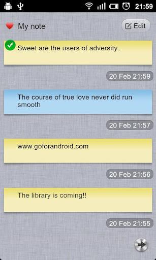 GO Note Widget screenshot 3