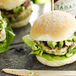 Lemongrass Chicken Sliders with Avocado Salsa