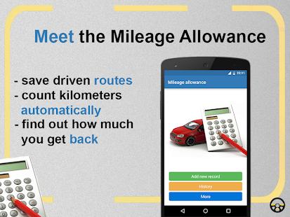 Mileage allowance - náhled