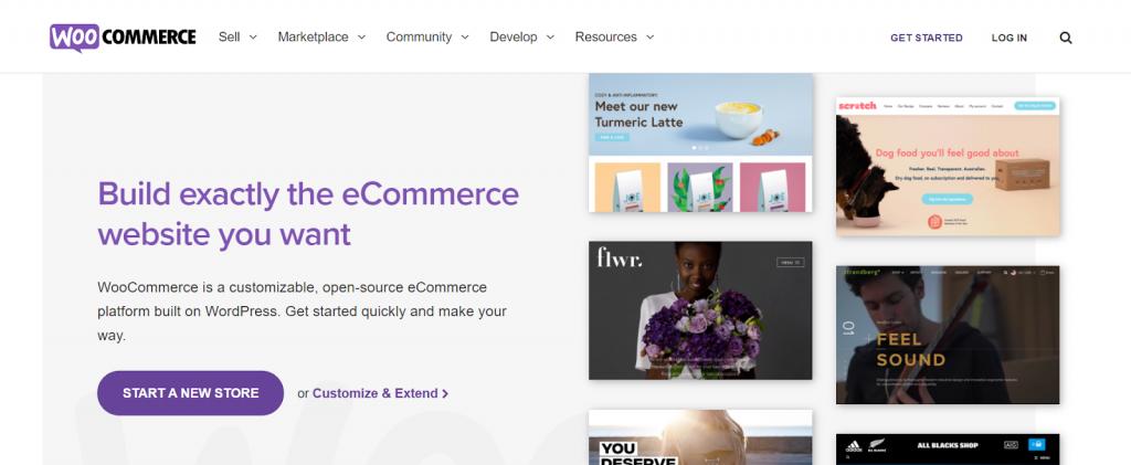 página inicial do woocommerce