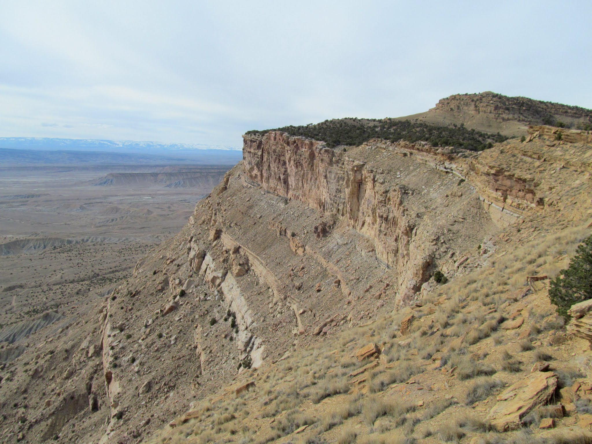 Photo: View north from the top of the Book Cliffs