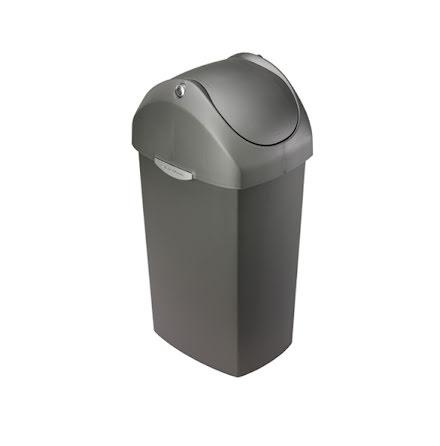 Swing-lid tunna i plast 60 liter, grå