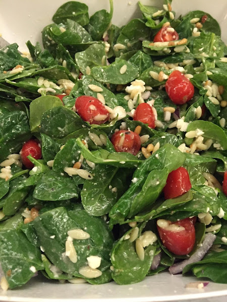 Greek Spinach And Orzo Salad Recipe