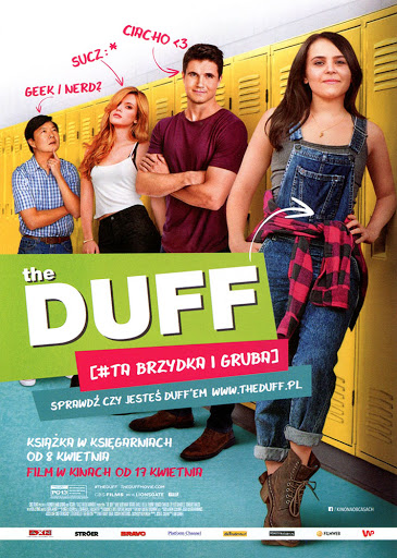 Przód ulotki filmu 'The DUFF [#Ta Brzydka i Gruba]'