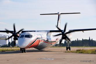 """Photo: Autre """"Bombardier"""" de la sécurité civile le Dash 8 Q400 """"Milan"""" motorisé par 2 turbines Pratt & Withney PW150 de 4500 cv chacune."""