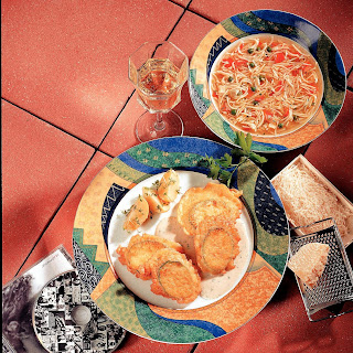 Gebackene Zucchini mit Käsemantel