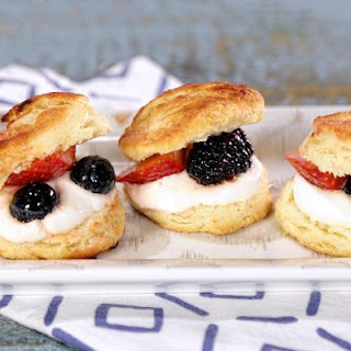 Carla Hall Berries, Biscuits & Cream