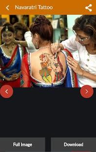 Navratri Tattoo Idea Image - náhled