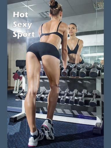 セクシーなスポーツの熱い女の子