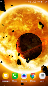 Asteroids 3D live wallpaper screenshot 5