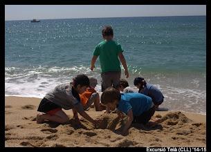 Photo: Comencem l'excursió ben acalorada, sort que tenim el mar per refrescar-nos! (Masnou)