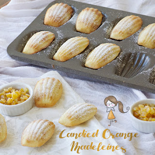 Candied Orange Madeleines.