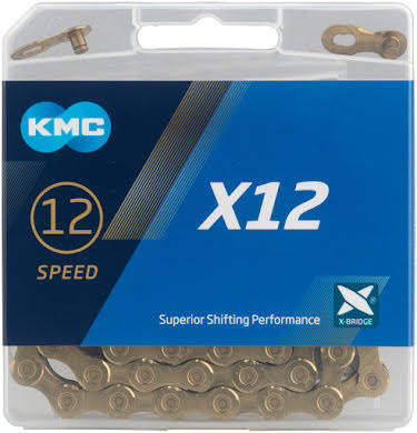 KMC X12 Chain: 12-Speed, 126 Links, Ti Nitride Gold alternate image 0