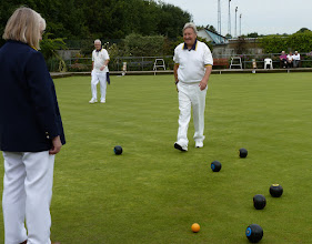Photo: Bob concedes as Dave draws the shot- Result 21-19.