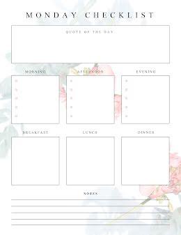 Monday Checklist - Planner item