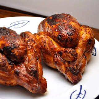Grilled Cornish Hens with Fresh Herbs.