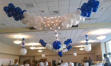 Photo: ceiling décor for reception, etc.
