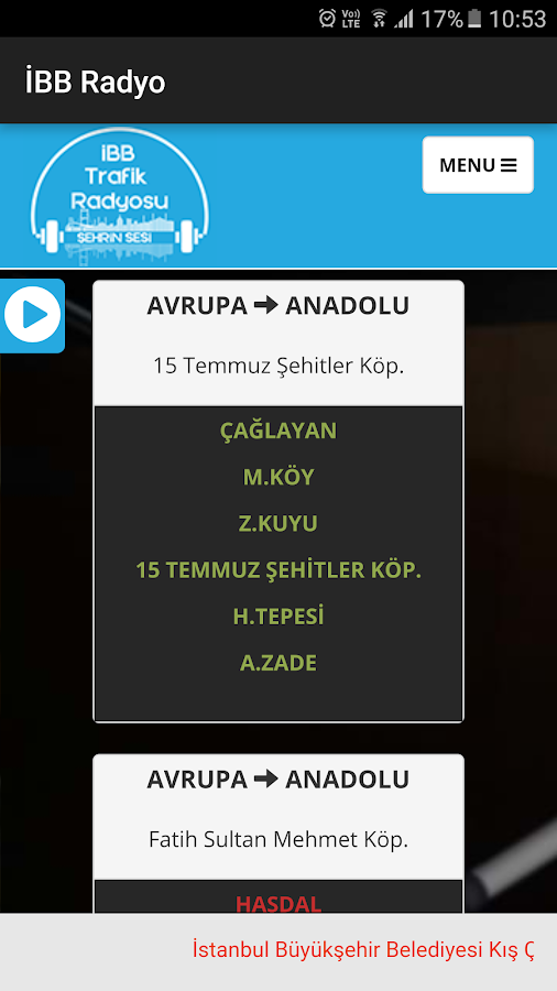 İBB Radyo- screenshot