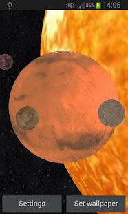 Solar System 3D Free Live Wallpaper 5