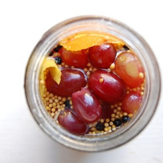 Pickled Grapes with Citrus and Spice.