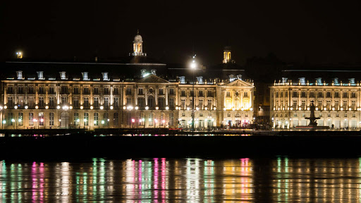 Place de la Bourse is one of the most visited landmarks in Bordeaux, France.