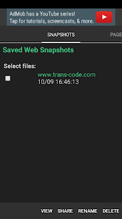 Web Snapshots- screenshot thumbnail