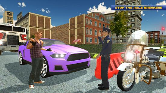 Police Motorbike Driving Sim 3D - Police Bike 2018 - náhled