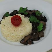 Sauteed Mushrooms with Rice