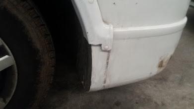 Photo: Se ha roto el plástico, suerte que se recuperó el trozo y se puede reparar
