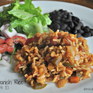 Brown Spanish Rice (THM: E, low-fat).