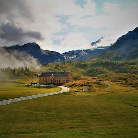 Passo del Sempione by Cosimo Resti - Landscapes Mountains & Hills ( mountain, buildings, hills, austria, clouds )