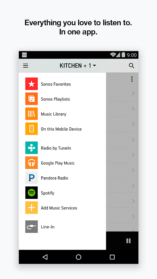 Sonos Controller for Android- screenshot